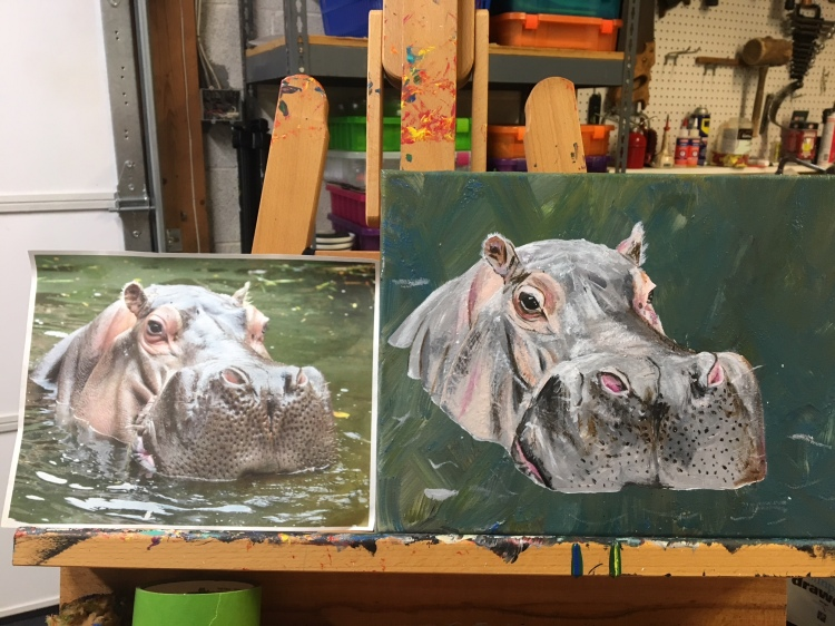 hippo painting
